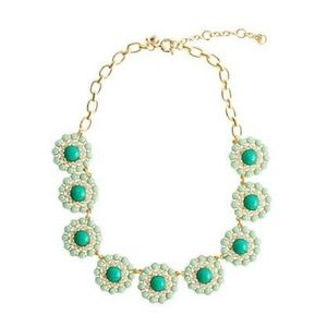 J Crew Statement Circle Aqua & Green Necklace ✨✨